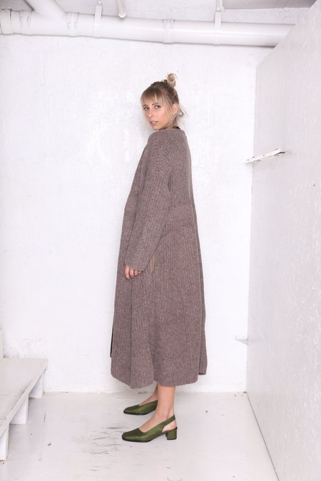 """""""INTENTIONALLY __________."""" Prell Long Cardigan - Oatmeal"""