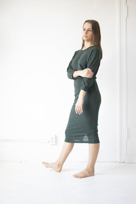 Eve Gravel Juniper Dress - GREEN