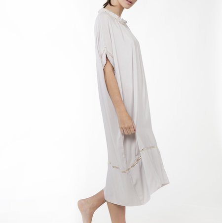Laing Home Marina Viscose Gown - Silver