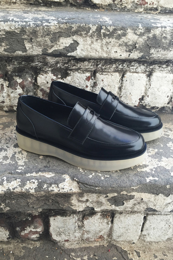 F-Troupe Black Wedge Loafer