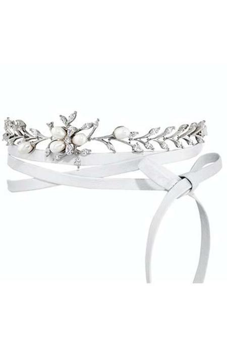 Fallon Monarch Pearl Vine Choker - WHITE