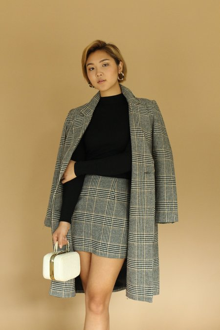 ASTR The Label Wool Mini Skirt - Plaid