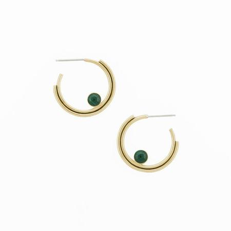Artifacts Arc Hoop Earring with Stone