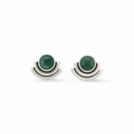 Artifacts Arc Stud Earrings with Stone