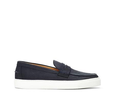 Brother x Frère Buck Slip On - Nubuck Navy