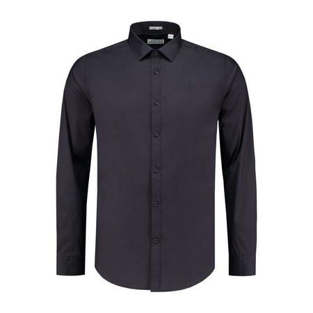 Dstrezzed Luxury Stretch Poplin Shirt - Dark Navy