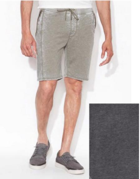 John Varvatos Star USA Terry French Shorts - Metal Grey