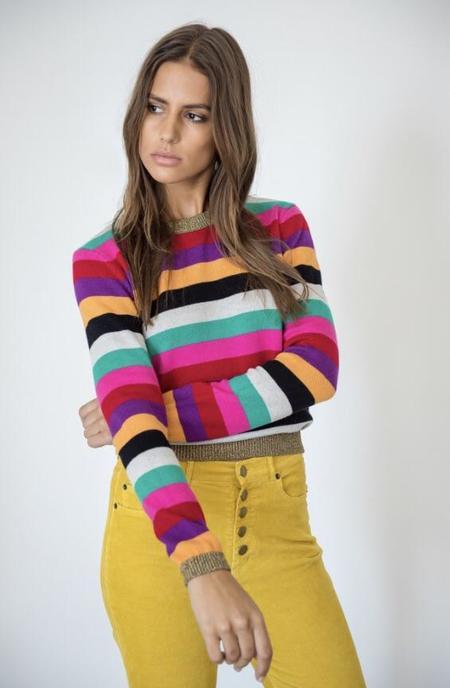 Pam & Gela Striped Sweater with Lurex - Multicolour