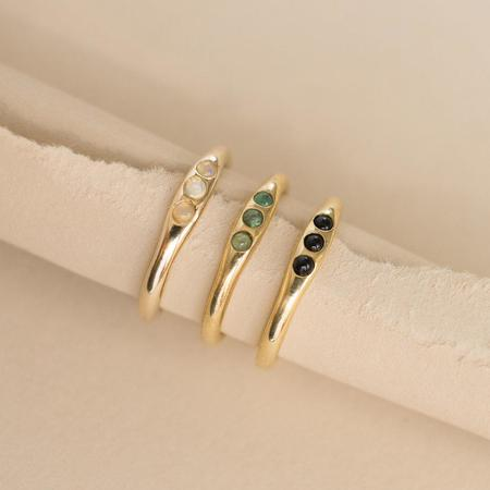 Neeko Opal Merewif Comet Ring - Gold