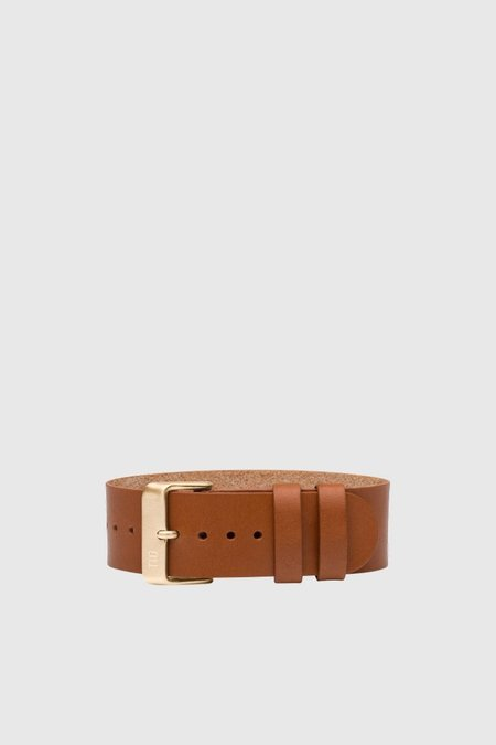 TID Watches Tan Leather Wristband - Gold