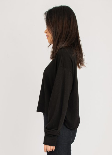 Groceries Apparel Cropped Sweatshirt - Black