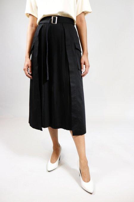 W A N T S Pleated Midi Skirt - Black