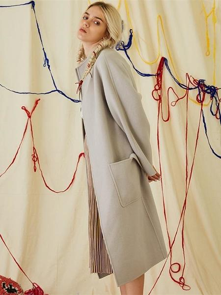 HOWL Manual Double Face Wool Coat - Gray