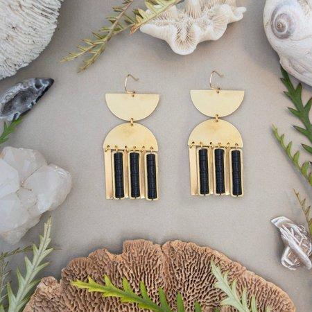 Alchemilla Elara Earrings - Obsidian