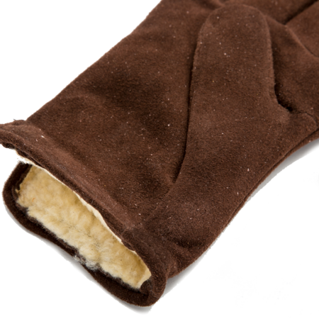 Unisex Geier Glove Lined Deerskin Slip-on Glove - Brown