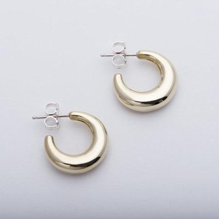 Leigh Miller Mini Bubble Hoops - Brass