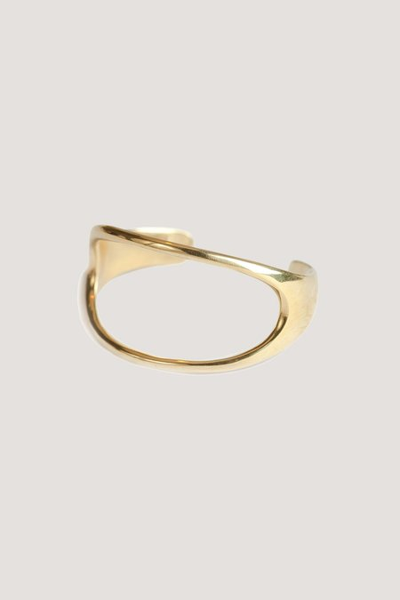 SOKO Open Oval Statement Cuff - BRASS