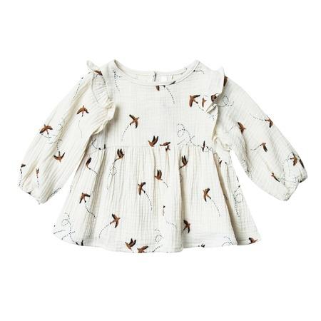 KIDS Rylee + Cru Sparrow Piper Blouse - Ivory