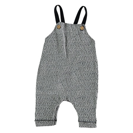 KIDS Buho Diego Jersey Tweed Dungaree - Grey