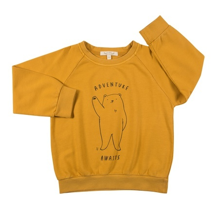 KIDS Red Caribou Terry Sweatshirt - Yolk Yellow