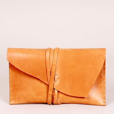 Tree Fairfax Wrapped Leather Wrap Clutch