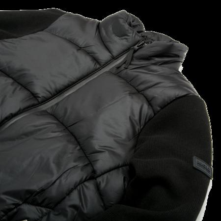 Unisex Aigle Barsain Mixed Fabric Quilted Jacket - Black
