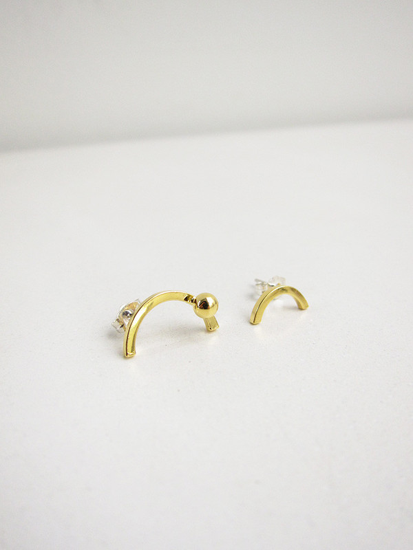 FAUX/real Wine and Moon Earrings