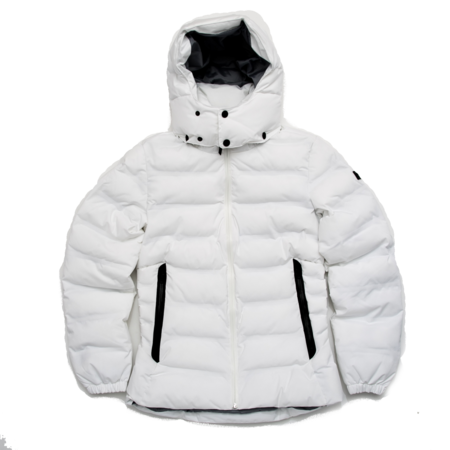 Unisex Aigle Rigdown Short Parka - White