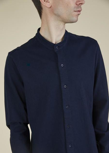 Labo.Art Wayne Band-Collar Shirt - atlantic