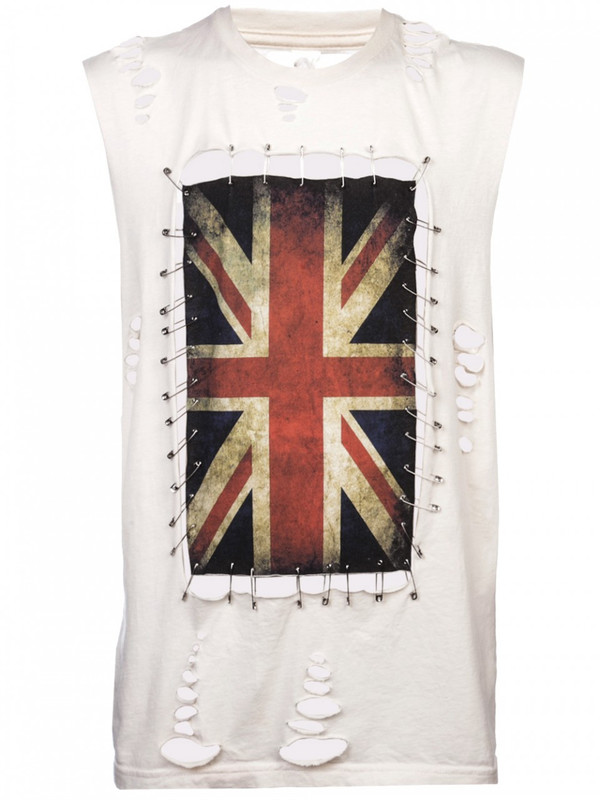 Any Old Iron Union Jack Pin T-Shirt