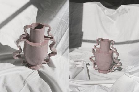 Morgan Peck Double Stretch Vase - Eraser Pink