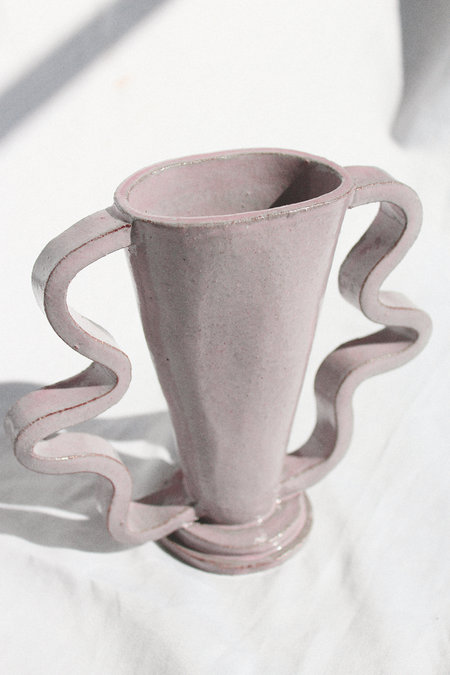Morgan Peck Short Stretch Vase - Eraser Pink
