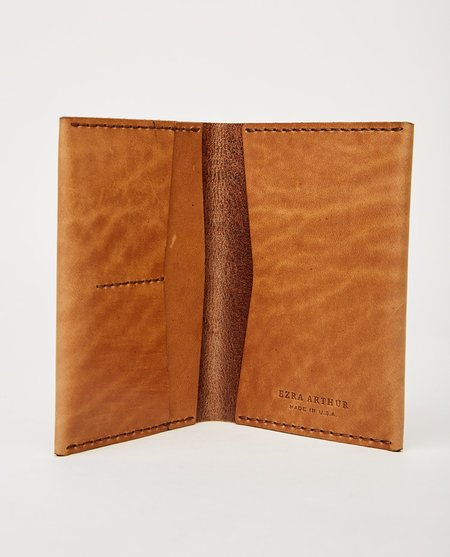 EZRA ARTHUR NO. 5 PASSPORT WALLET - WHISKEY