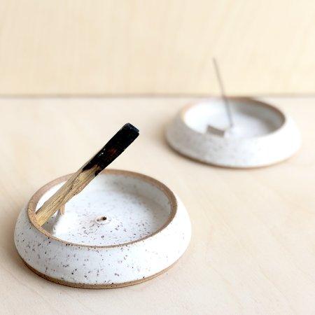 Denise Lopez D: Ceramics Palo Santo and Incense Burner - Speckle