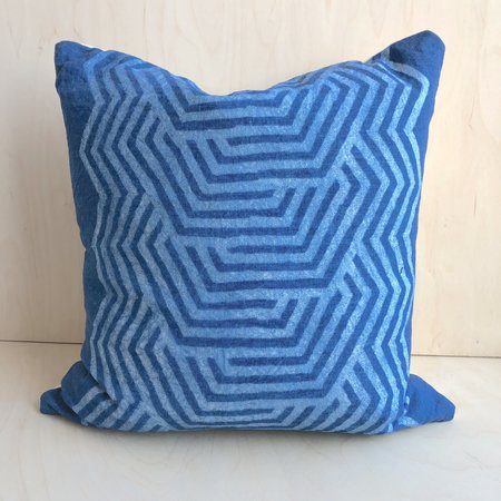 Graham Keegan Hand Dye Pillow - Indigo