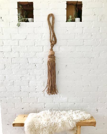 Kin+Kind Leather Tassel - Natural