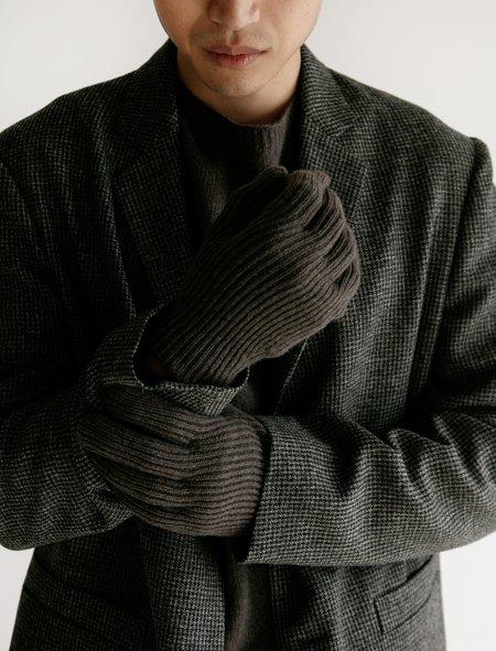 Margaret Howell Fine Rib Merino Cashmere Glove - Smoke Twist