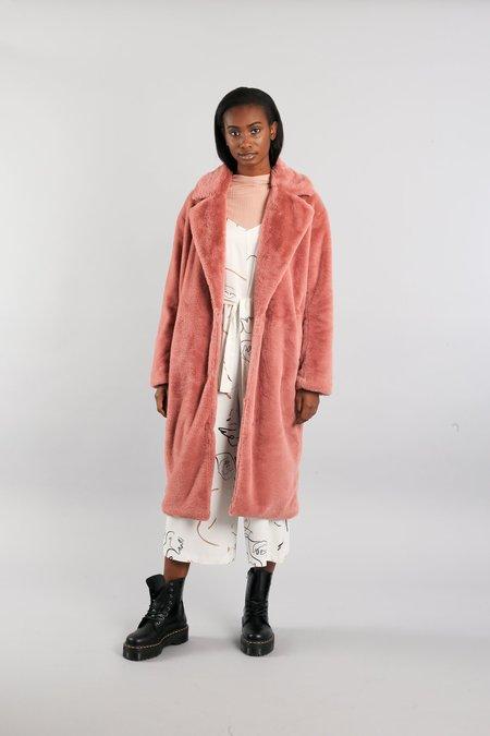 Native Youth The Yoko Coat - Dusty Pink