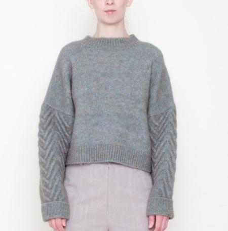 7115 by Szeki Chunky Sweater - Fog