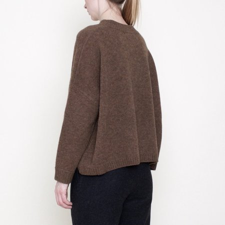 7115 by Szeki Crewneck Sweater - Toffee