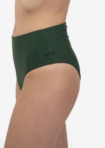 Ocin Hi Waisted Swim Bottom - Olivine