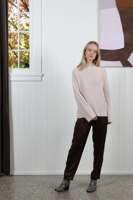 White + Warren Luxe Standneck Pullover - Snow