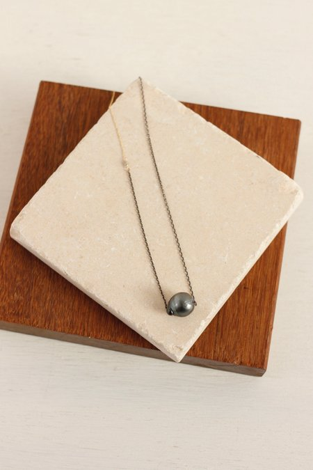 CLP Tahitian Pearl Necklace On Gold And Sterling Chain