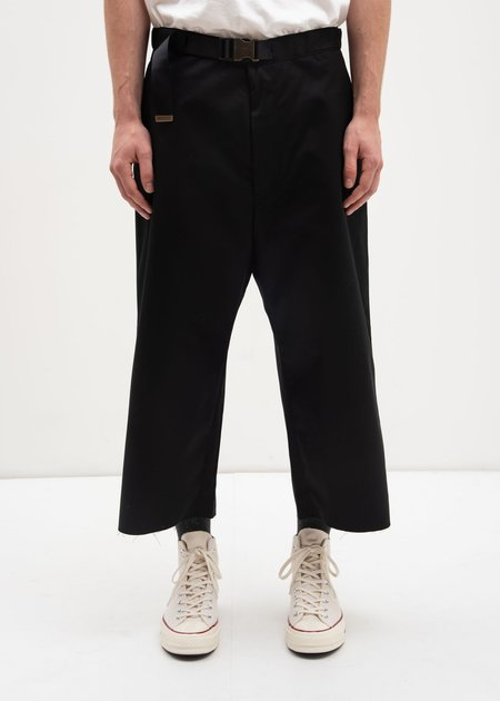 Facetasm Belted Trousers - Black