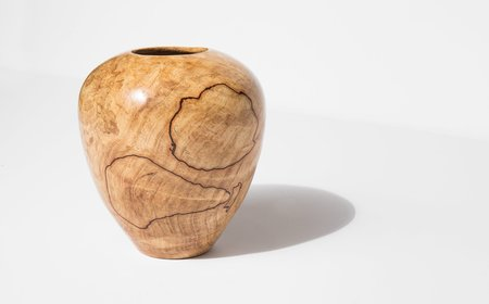 Bruce Perlmutter Hand Lathed Red Beech Vessel