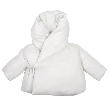 KIDS Album di Famiglia Baby Lina Coat With Kimono Close - Rice Off-White