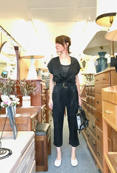 Allison Wonderland Getty Jumpsuit - Black