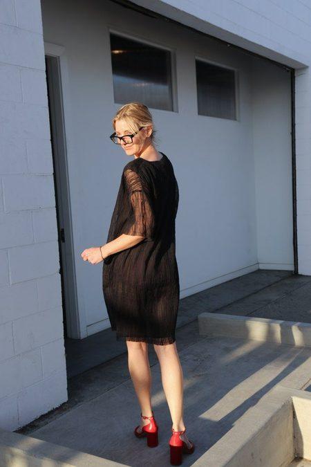 Sara Lanzi Stitched T-Shirt Dress - Black
