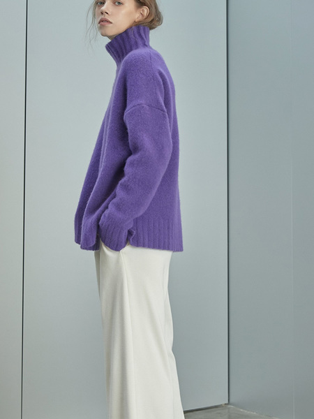 GREYYANG Yak Pullover Sweater - Violet