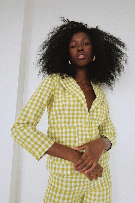 Selva Negra Galina Blazer - Limon Gingham